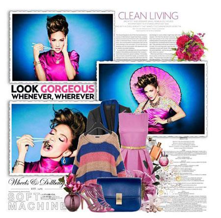 مدل زیبا از لباس بهاره به سبک Jennifer Lopez