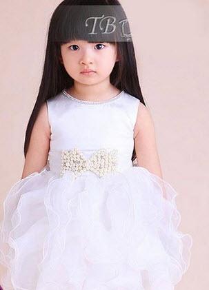 مدل بسیار جدید از لباس عروس بچگانه پفی