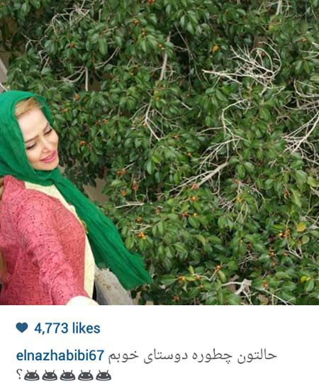 عکس سلفی جدید الناز حبیبی