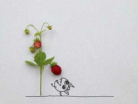 تصاویر طنز و جالب از نقاشی های ترکیبی با اشیا