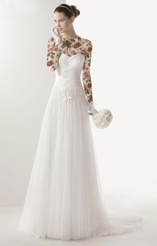 مدل لباس عروس بسیار ساده خارجی