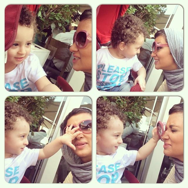 بازی کردن روناک یونسی با پسرش + عکس
