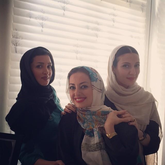 مهمونی بازیگران زن معروف در سعادت آباد + تصاویر