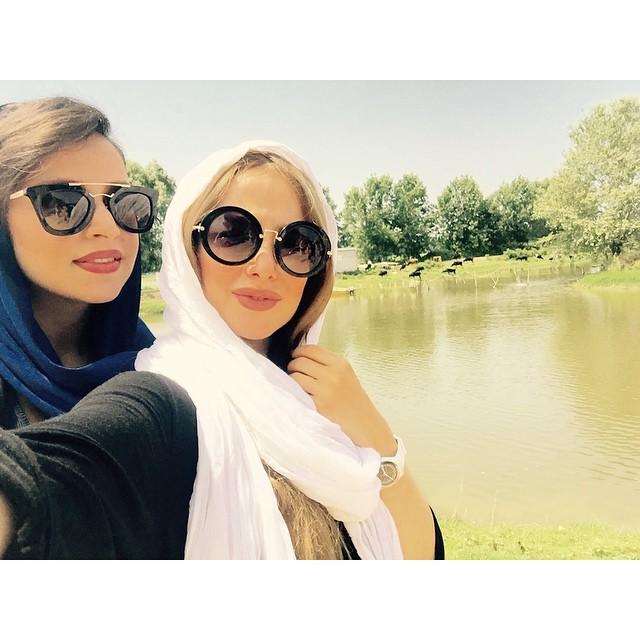 تفریح الناز حبیبی و دوستش در پایان هفته + عکس