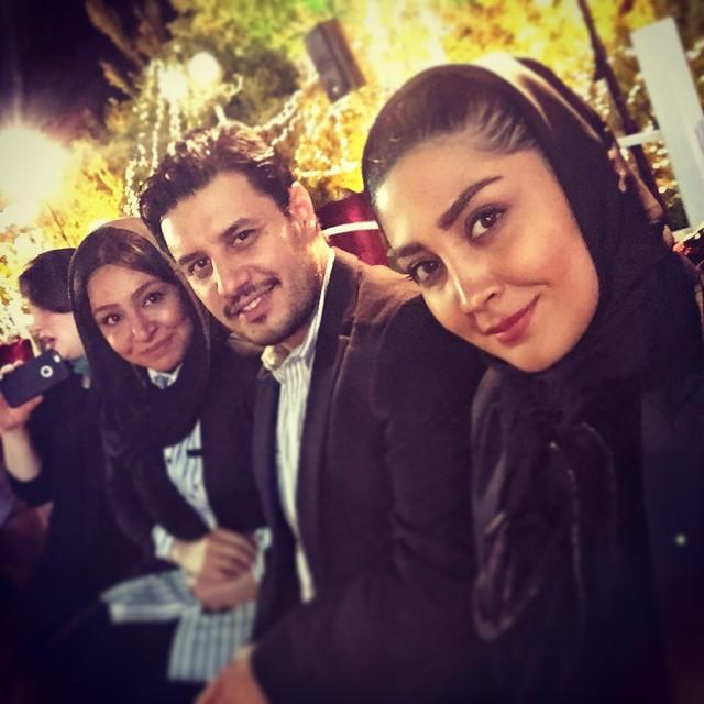 جواد عزتی و همسرش / عکس