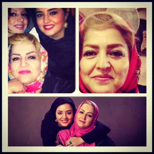 عکس / نرگس محمدی در تولد مادرش !