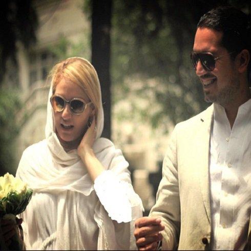 اولین سالگرد ازدواج مهناز افشار و همسرش + عکس