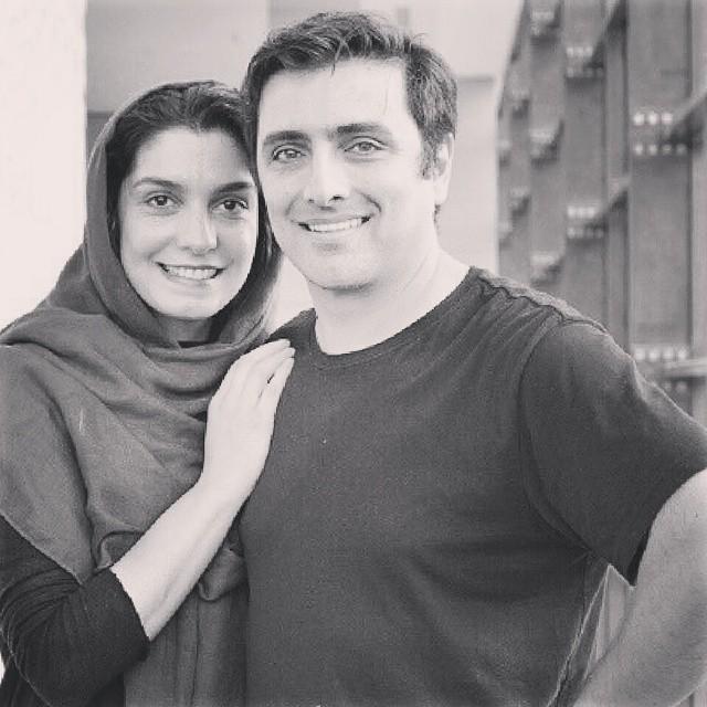 عکس امین زندگانی و همسرش