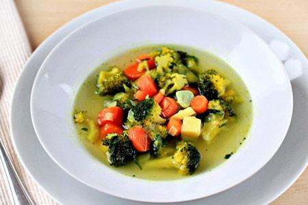 آموزش درست کردن سوپ سبزیجات رژیمی
