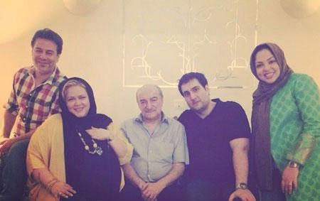 زهرا عاملی و همسرش در کنار زوج بازیگر مشهور / عکس