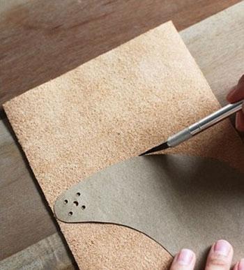 آموزش تصویری درست کردن نقاب چرمی ویژه تابستان