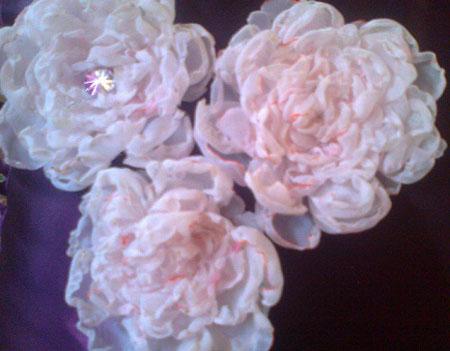 آموزش تصویری درست کردن گل رز حرارتی