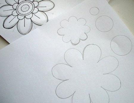 آموزش دوخت رومیزی نمدی مدل گل