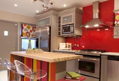 دکور کردن آشپزخانه بهمراه پرده های زیبا