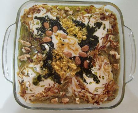 خوشمزه ترین تزیین حلیم بادمجان ویژه رمضان ۹۴