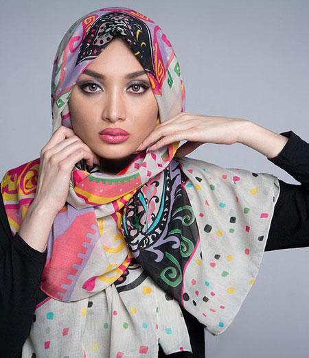 مدل شال رنگارنگ زیبا و شیک دخترانه