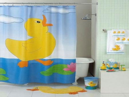 مدل پرده حمام دخترانه و پسرانه