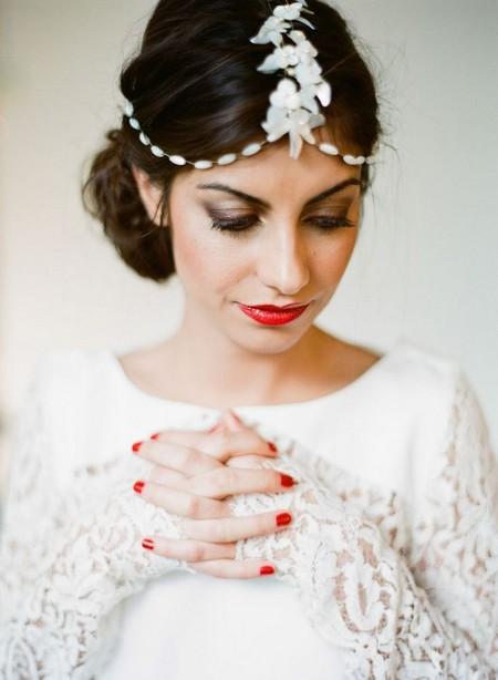 مدل مو عروس فوق العاده ساده