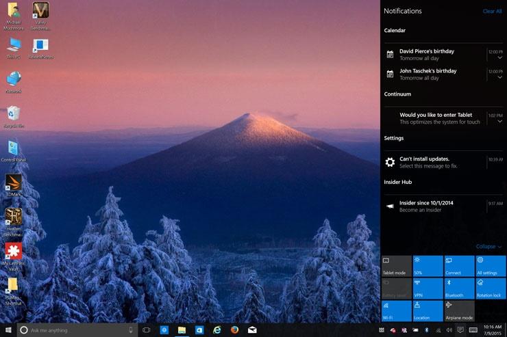 علل دهگانه نصب ویندوز ۱۰ / ویندوز جدید مایکرو سافت