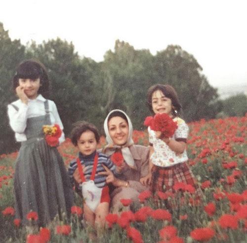 عکسی دیدنی هانیه توسلی در آغوش مادرش!