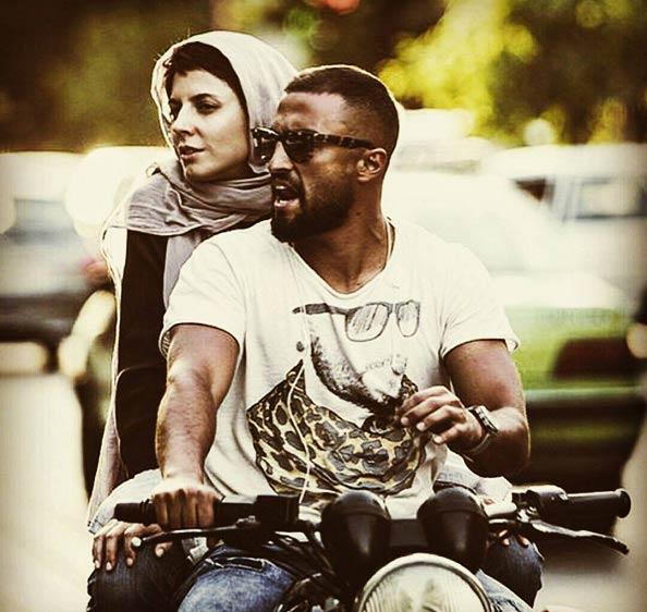 لیلا حاتمی در حال موتور سواری! + عکس