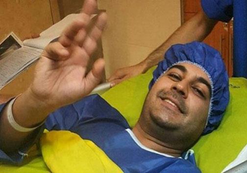 اولین عکس از بهنام صفوی پس از عمل جراحی