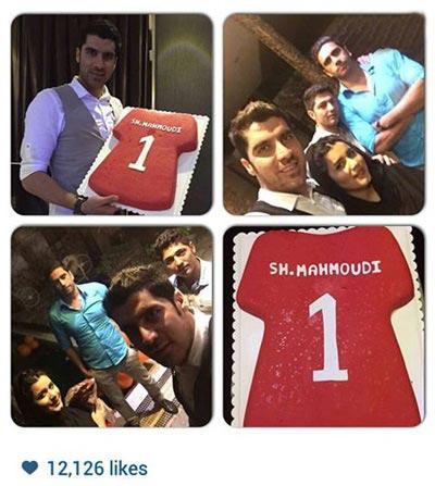 جشن تولد شهرام محمودی در کنار همسر و دوستانش / عکس