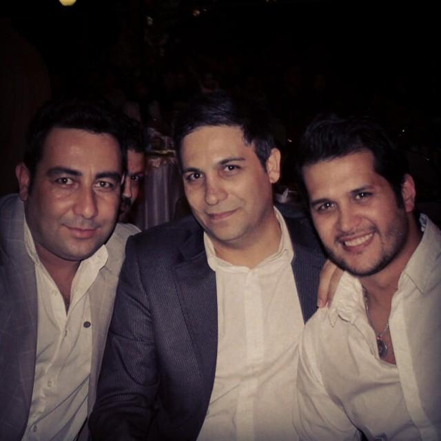 شهرام اسدزاده در کنار سیاوش خیرابی / عکس