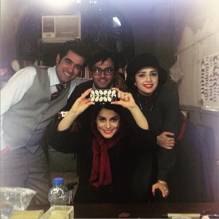 سلفی ترانه علیدوستی و شهاب حسینی / عکس