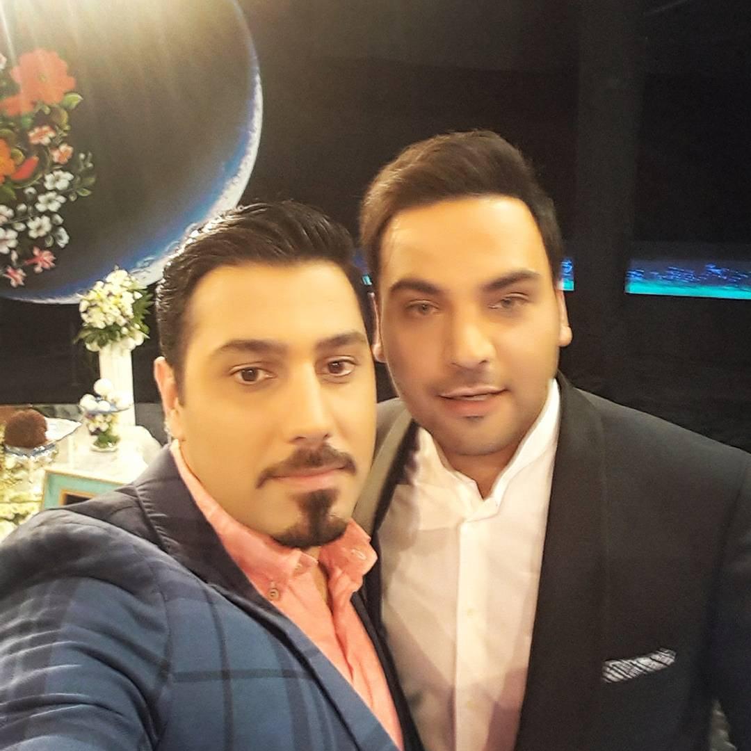 عکس / سلفی احسان خواجه امیری با احسان علیخانی