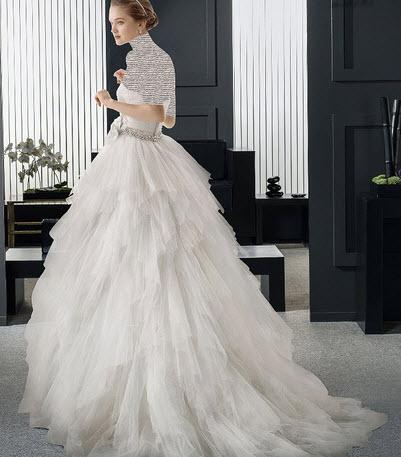 مدل لباس عروس بسیار ساده و شیک