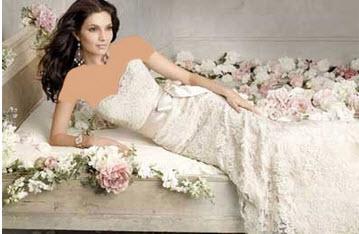 لباس عروس بسیار جذاب دکلته