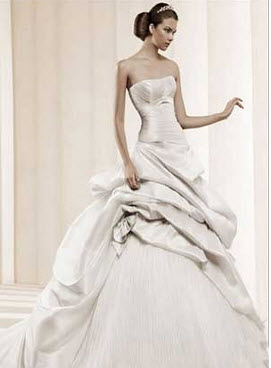 لباس عروس بسیار شیک به سبک اسپانیایی