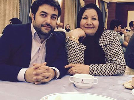 امیر جوشقانی و مادرش / عکس