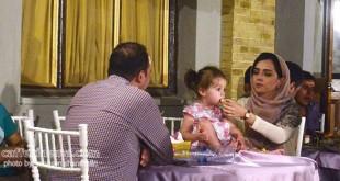 عکس / ترانه علیدوستی و دخترش حنا در مراسم افطار