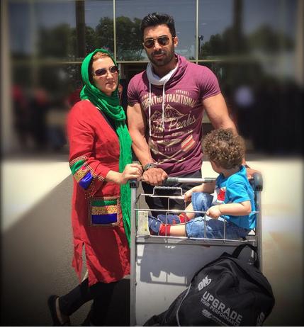 روناک یونسی و همسرش محسن میری / عکس