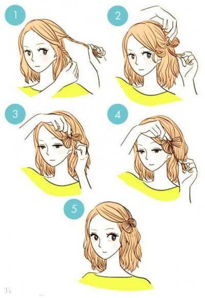 آموزش تصویری شینیون ساده دخترانه
