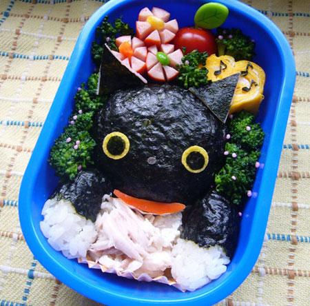 تزیین غذای کودکان سبک شخصیت های کارتونی
