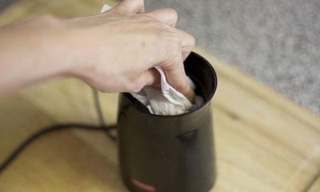 نحوه تمیز کردن آسیاب برقی کوچک