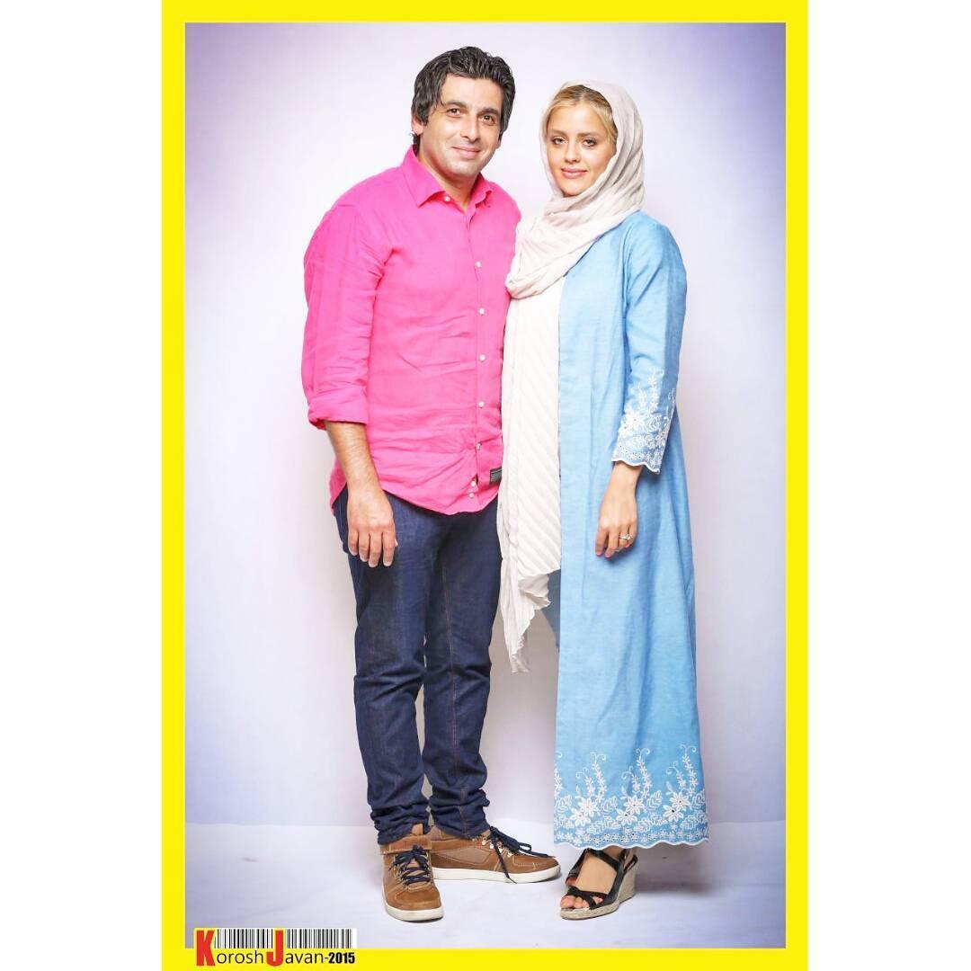 حمید گودرزی و همسرش / عکس