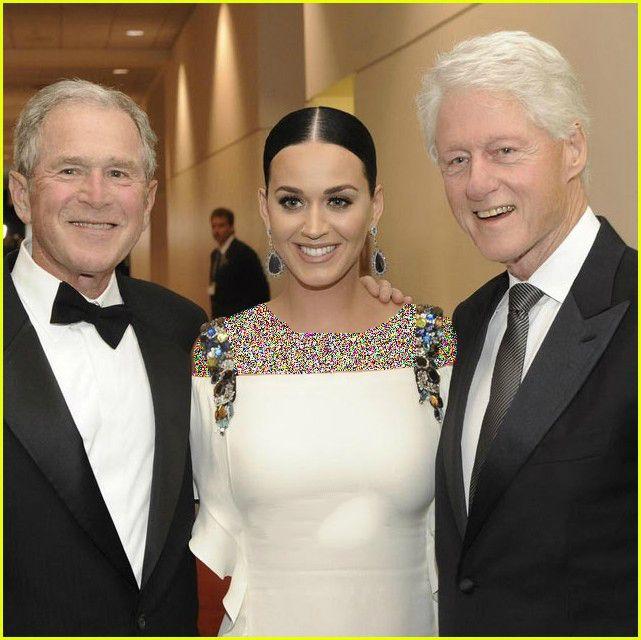 عکس جدید کتی پری در کنار رئیس جمهورهای آمریکا