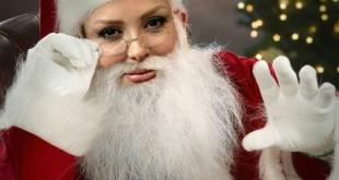 عکس جالب نیوشا ضیغمی با لباس بابا نوئل !