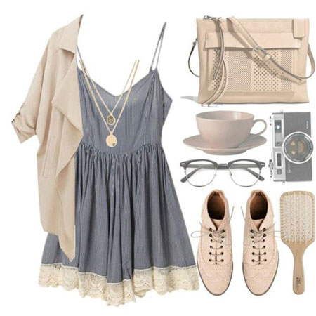 مدل زیبا از ست لباس تابستانه بسیار ساده و شیک