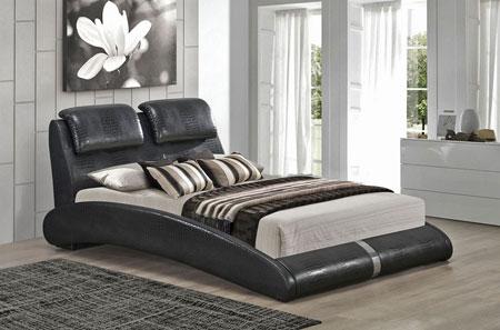 مدل سرویس خواب چرمی رنگ سفید و مشکی
