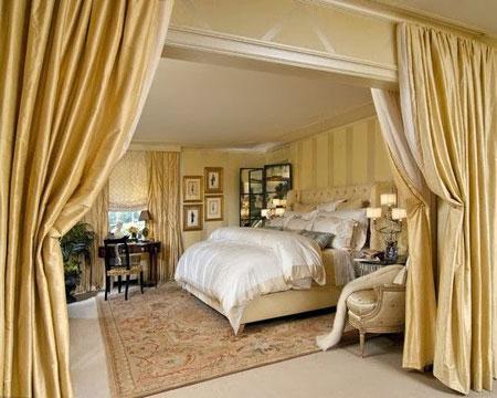 دکوراسیون بسیار جذاب ویژه اتاق خواب سلطنتی