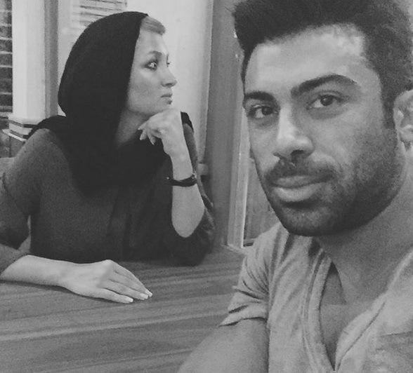 عکس / سلفی جدید روناک یونسی با همسرش