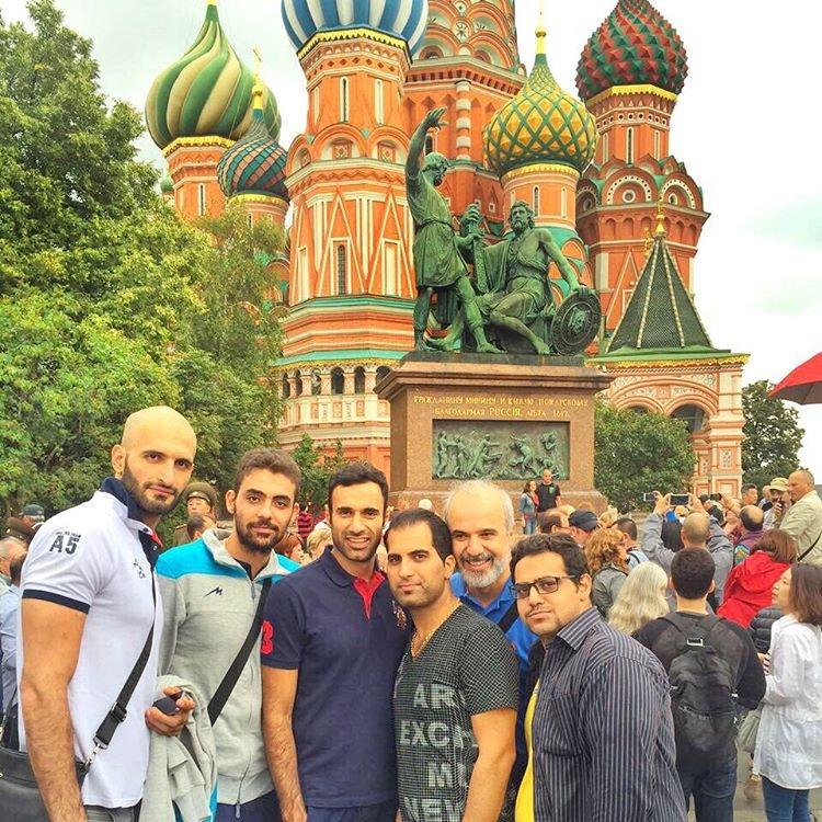 عکس / عادل غلامی در میدان سرخ مسکو