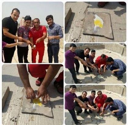 تخم مرغی که در گرمای اهواز پخته شد! / عکس