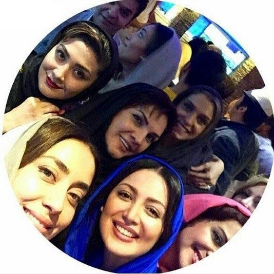عکس سلفی بازیگران زن ایرانی در یک رستوران