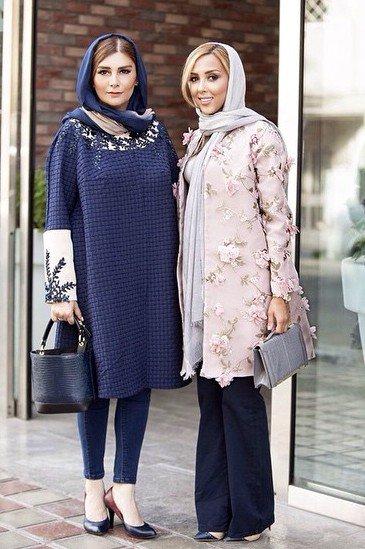 عکس / هنگامه قاضیانی در کنار طراح لباسش فرناز سلمانی